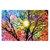 Beautiful Abstract Colorfull Sun Tree Art Silk Cloth Poster Wallpaper Decoration Poster Print Wall Sticker