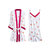 Sweety Spaghetti Strap Strawberry Printed Backless 2-Piece Nightgown With Robes