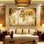 Miico हाथ चित्रित तीन संयोजन सजावटी पेंटिंग घर की सजावट के लिए विश्व मानचित्र दीवार कला