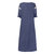 Women Loose Solid Round Neck Casual Maxi Dress