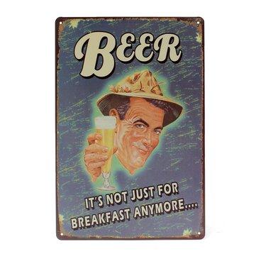Ölplåtskylt Vintage Metal Plaque Poster Bar Pub Hem Väggdekoration
