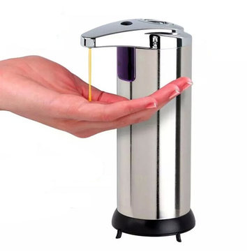 Rustfri Infrarød Automatisk Sensor Hånd Sanitizer Sæbe Dispenser