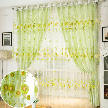 100x200cm Sunflower Tulle Voile Sheer Window Screen Bedroom Curtain Sale Banggood Com Arrival Notice