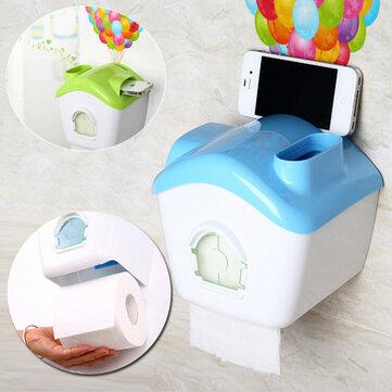 Creative Toilet Roll Papirholder Papirkasse Med Mobiltelefon Rack