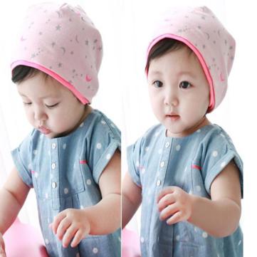 Bebé Niños Luna Estrellas Impresión de punto Gorros Gorros Sombrero