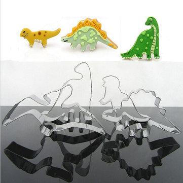 4pcs herramientas cortador de galletas galletas de dinosaurio de acero inoxidable