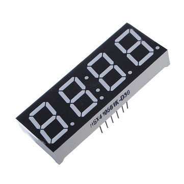 5Pcs 7-Segment 0.56 Inch 4 Digit 12 Pins Red LED Display For
