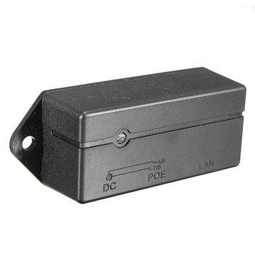 3Pcs Passive PoE Injector Splitter Module Wall Mount