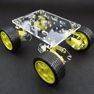 Tracking Obstacle Avoidance Suspension Smart Robot Acrylic Chassis Car DIY Kit