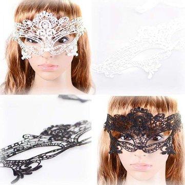 Veneciano sexy negro hueco partido de la máscara de ojo de encaje máscara de la mascarada