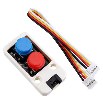 M5Stack® Mini Dual Push Button Switch Unit with GROVE Port Cable Connector Compatible with FIRE /M5GO ESP32 Micropython Kit