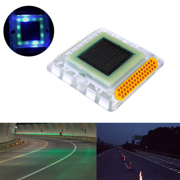 Solar Powered LED Outdoor Garden Ground  Road Stud Light Traffic Path Deck Dock Step Warning Lamp