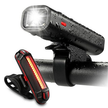XANES BLS12 650LM XPG LED German Standard Bike Light 5 Modes USB Rechargeable Cycling Front Light Tail Light Set