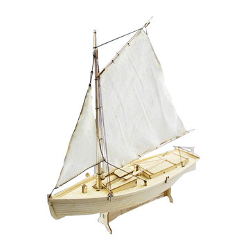Feilaite Wooden Sailing Boat Assembly Model Kit Laser Cutting Process DIY Toy