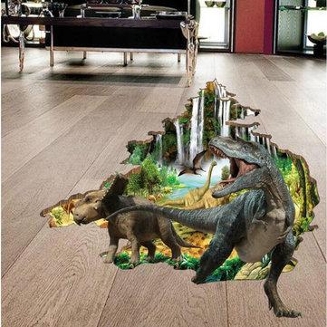 Miico 3D Creativo CLORURO DE POLIVINILO Pegatinas de Pared Decoración Del Hogar Arte Mural Extraíble Dinosaurio Tatuajes de Pared