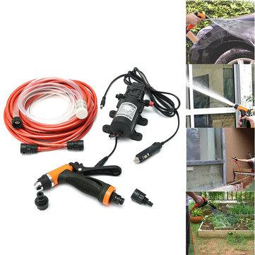 12V 100W उच्च दबाव स्व-भड़काना इलेक्ट्रिक कार पोर्टेबल वॉश वॉशर पानी पंप