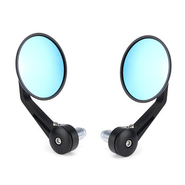 7/8inch Round Handlebar Rearview Mirrors Universal Motorcycle Handle Bar End Cafe Racer