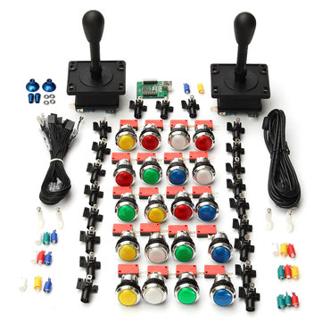 Arcade DIY Kit 2 HAPP Style Joysticks 20 LED Buttons 2 Player USB Encoder