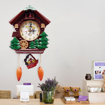 Wall Clock Cuckoo Clock Living Room Bird Alarm Toys Modern Brief Children  Decorations Home Day Time Alarm