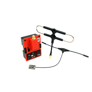 FrSky R9M 2019 900MHz Long Range Transmitter Module and R9 Mini Receiver with Mounted Super 8 and T antenna