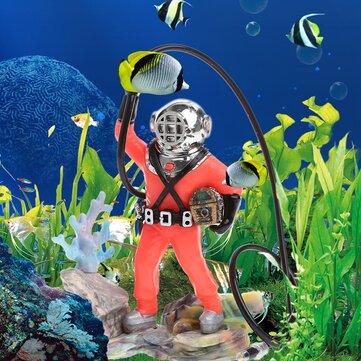 Decoración del acuario Hunter Treasure Figure Acción Ornamento del tanque de peces Acuario Realista Diseño