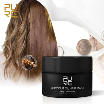PURC Coconut Flavor Hair Mask Non-Steaming Nutrient Hair Mask for sale in Bitcoin, Litecoin, Ethereum, Bitcoin Cash with the best price and Free Shipping on Gipsybee.com