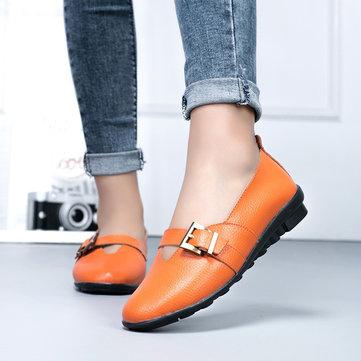 Stor Storlek Tillfällig Soft Spännebyxor Loafers Slip On Shoes