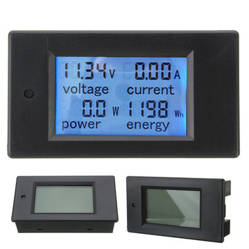 Excellway® 20A DC Multifunction Digital Power Meter Energy Monitor Module Volt Meterr Ammeter