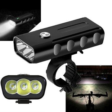 XANES XL29 1500LM 3T6 LED 3 Mode Bersepeda Aluminium Alloy Sepeda Headlight 18650mAh Baterai USB Pengisian
