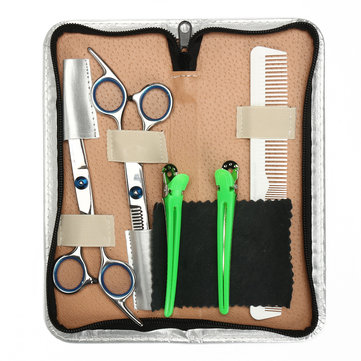 6.8 inch Salon Hair Cutting Scissors Kit Comb Clips Barber Shears  Hairdressing Hair Styling Tools