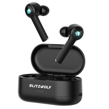 BlitzWolf BW FLB2 TWS Gaming Earphone bluetooth V5.0 Low Latency DSP Noise Canceling HiFi Sound 1000mAh Touch Control Gaming Headphone with Mic