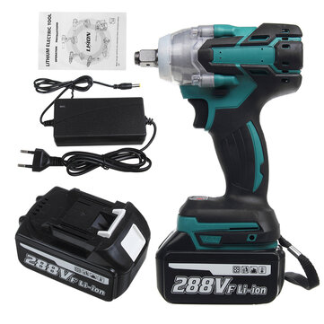 288VF 1 or 2 800NM Electric Cordless Brushless Impact Wrench With 1 or 2 Battery
