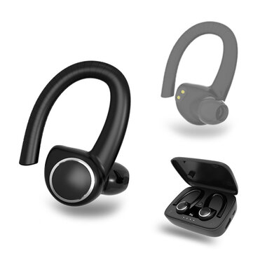 Buy Bakeey B2 TWS bluetooth 5.0 Wireless Stereo Sport Hanging Ear Earphone Headphone with Charging Case with 11 on Gipsybee.com