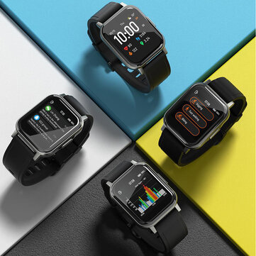 Haylou LS02 1.4inch Ture Color Full Touch Large Screen 320+320ppi Resolution 30Days Long Standby 12 Sports Modes bluetooth 5.0 Smart Watch Global Version