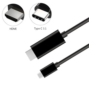 USB 3.1 Type C to High Definition Multimedia Interface Adapter Cable for MacBook ChromeBook Pixel MateBook