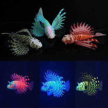 Yani Acuario Efecto Glowing Onament Silicona Decoraciónación artificial para el tanque de pescado