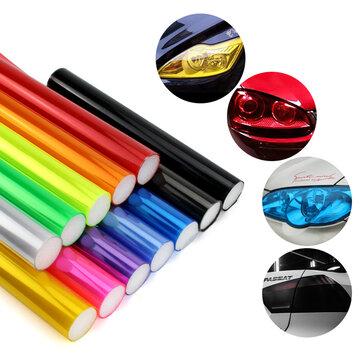 40cmX1.2m Car Light Film Headlight Taillight Cover Tint Vinyl Sticker Decoration Decal