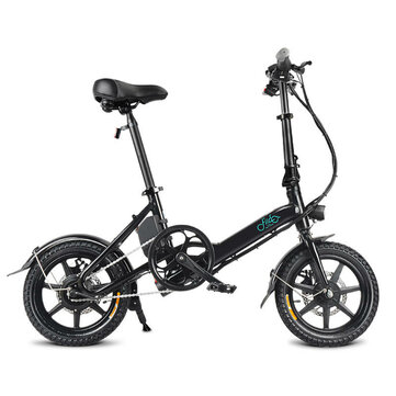 [EU Direct] FIIDO D3 7.8Ah 36V 250W 14 Inches Folding Moped Bicycle 25km/h Max 50KM Mileage Mini Electric Bike - Black