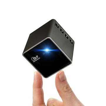 ইউএনআইসি P1 প্লাস ওয়াইফাই ওয়্যারলেস পকেট DLL মিনি প্রজেক্টর 30 Lumens মাইক্রো Miracast DLNA ভিডিও প্রজেক্টর