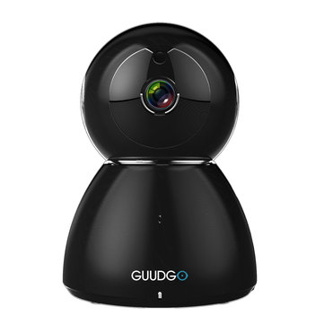 GUUDGO GD-SC03 Bonhomme de neige 1080P Cloud WIFI Caméra IP Noir Pan & Tilt IR-Cut Vision nocturne Surveillance de mouvement audio à deux voies Surveillance de caméra Support Amazon-AWS [Amazon Web Services] Cloud Storage Service