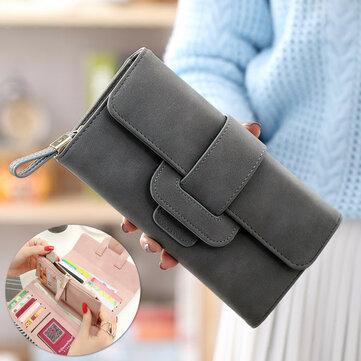 Cassa di carta del telefono della scanalatura di carta del portafoglio di grande capacità delle donne Borsa Custodia per il telefono cellulare sotto 5.5