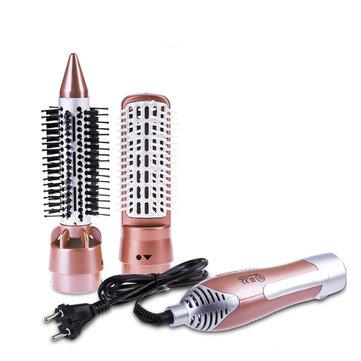 2 में 1 बहुआयामी पेशेवर हेयर ड्रायर कंघी स्टाइलिंग उपकरण सेट स्ट्रेटनर कर्लर सूखी बालों