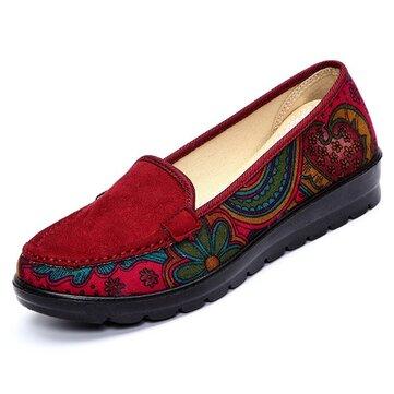 Scarpe traspiranti Slip-on delle scarpe piatte casual delle donne di grande formato Scarpe morbide sole