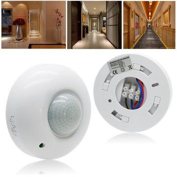 360 ° Movimento PIR infravermelho automático Sensor Interruptor para LED Teto de luz AC220-240V