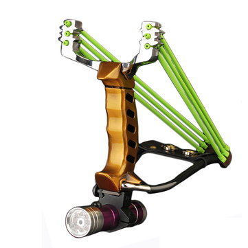 IPRee® Outdoor Tactical Metal Slingshot Rubber Band Catapult Camping Game Sling Shot Kit
