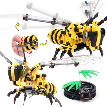 SEMBO 703200 Honeybee DIY Bumblebee Flying Insect Building Blocks With Box Package Bricks Toys Gift Decor