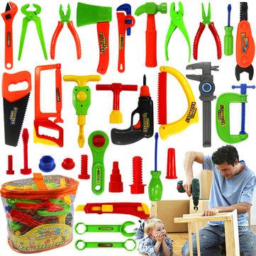 Maintenance Toolbox Portable Children Play Set Pretend Repair Kit Kids Educational Play House Toy
