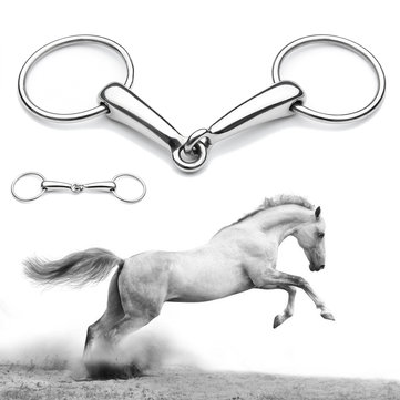 5in Stainless Steel Shires Hollow Mouth Equestrain Horse Snaffle Bit Loose Ring Bit