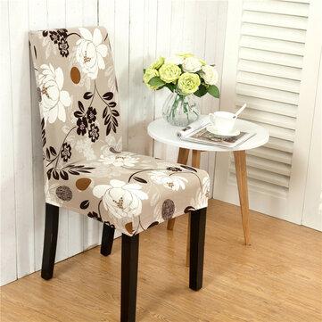 Honana WX-915 Elegante paisaje de flores Elástico Stretch Silla Funda de asiento Comedor Inicio Boda Decoración