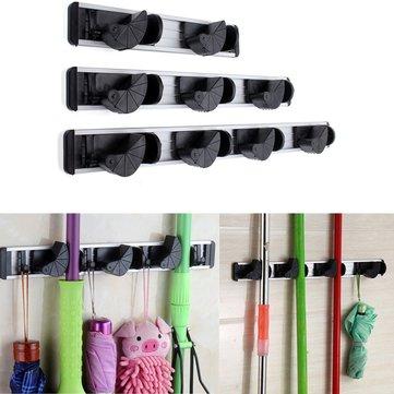 Multiduction Aluminium Wall Mounted Mop Broom Holder Brush Rack Cloth Hanger